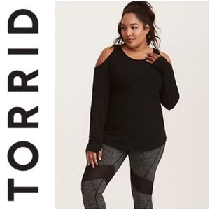 🚨NEW Torrid Active Cold Shoulder Sweatshirt Sz 5X